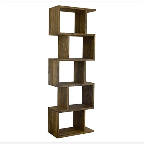 zig zag bookshelf timber furniture loft
