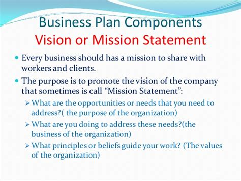 sle business plan vision statement bakery mission statement exles google search