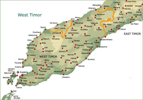 where is east timor on a map opinions on west timor