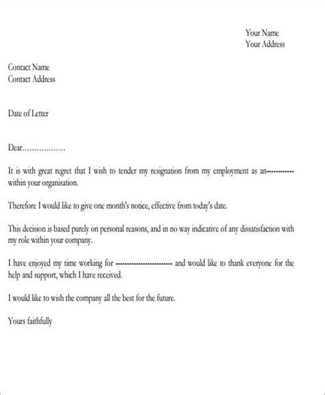 Regret Letter For Meeting Invitation sle resignation letter with regret 6 exles in pdf word