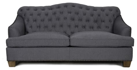 charcoal tufted sectional sofa margot tufted sofa charcoal traditional sofas by kosas