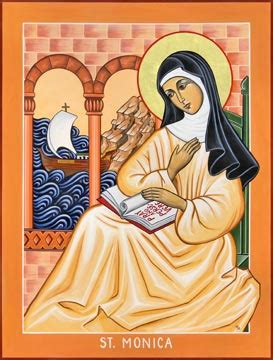 clares catholic clutter saint   day st monica