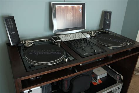 custom dj table my custom made dj turntable console cabinet furniture