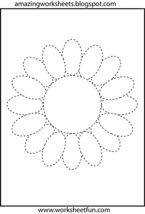 printable traceable flowers search flower and tracing worksheets on pinterest