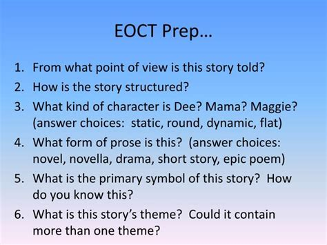 themes of the story everyday use ppt everyday use by alice walker powerpoint