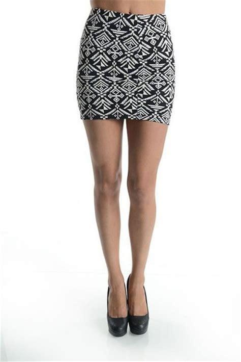 tribal patterned mini skirt skirt black and white skirt black and white mini skirt