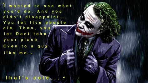 Joker Quotes Joker Quote From The Best Quotes