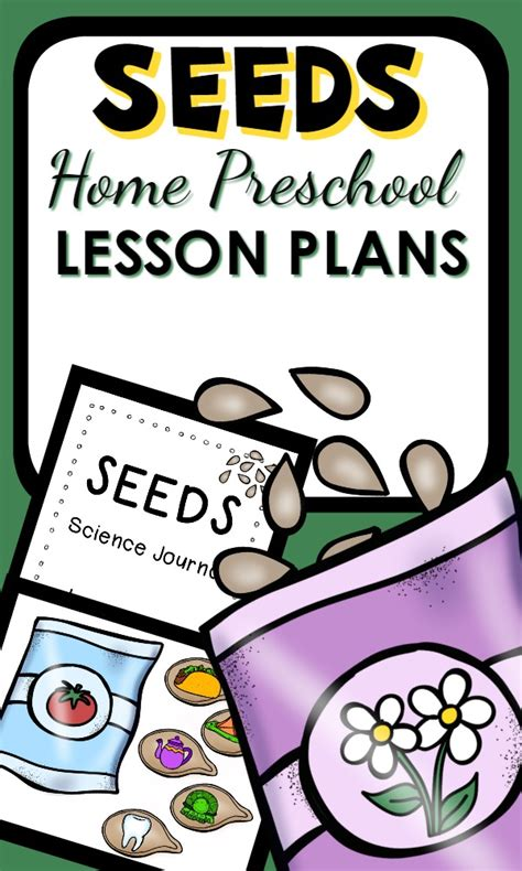seeds home preschool lesson plan home preschool 101