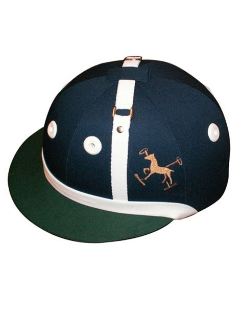 design polo helmet casco de polo en tela estilo argentino o ingles spirit