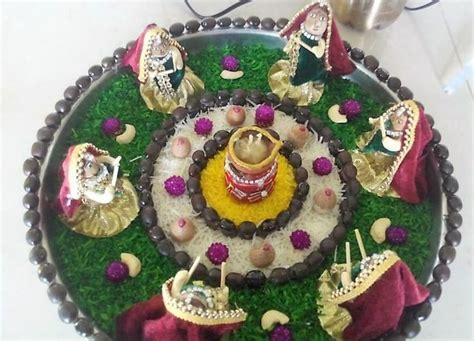 Navratri Aarti Thali Decoration Ideas   Decor, Sewing, Art
