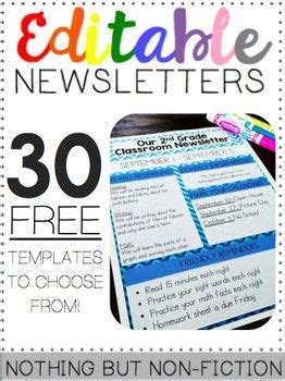 Editable Newsletters Back To School Pinterest Preschool Newsletter Templates Classroom Powerpoint Newsletter Template
