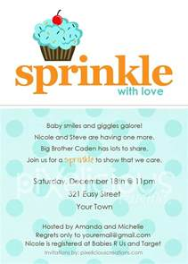 sprinkle custom baby shower invitation or boy