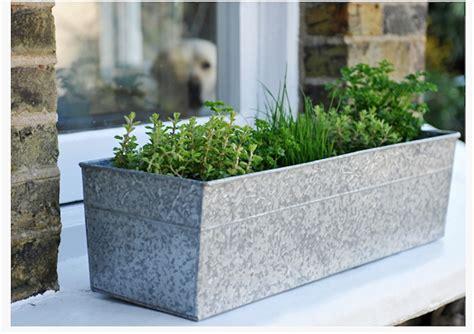 Metal Planter Trough by 10 Easy Pieces Galvanized Trough Planters Gardenista