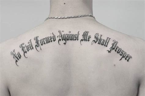 isaiah 54 17 tattoo isaiah 54 17 no evil formed against me shall