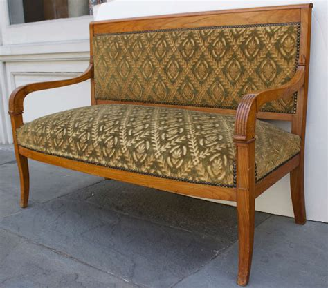 small settee bench small french settee in charles x style for sale at 1stdibs