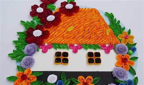 to make beautiful paper quilling how to make beautiful house with flowers