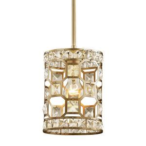 Farma Gold Clear A 1 fifth and lighting 1 light chagne gold with clear mini pendant wl 2255