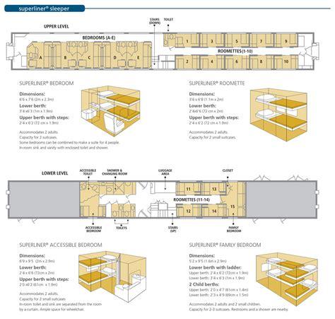 superliner floor plan onboard the train amtrak vacations