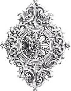 Antique Victorian Christmas Ornaments - amazing antique rosette scrolls ornament the graphics fairy