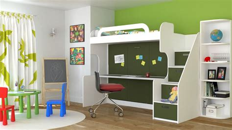 kids bed with desk cool bunk bed desk combo ideas for sweet bedroom