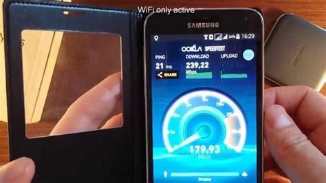 Ac Samsung Wifi gigabit speed test on samsung g900fd mobile phone