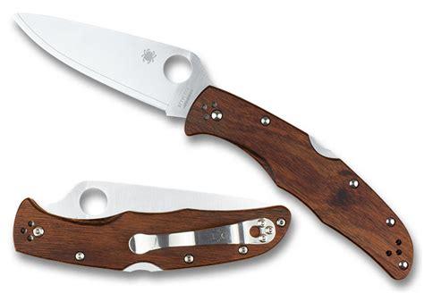 spyderco endura 4 specs endura 174 4 mahogany pakkawood plainedge hap40 sus410