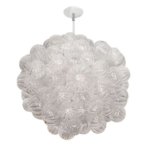 Glass Bubbles Chandelier Large Glass Chandelier With Clear Handblown Bubbles At 1stdibs