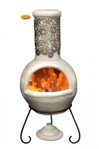 Large Mexican Chiminea Flor Mexican Chiminea Black Beige Large
