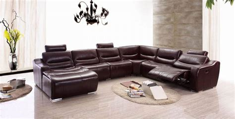 Large Brown Sectional Sofa Large Spacious Italian Leather Sectional Sofa In Brown San Diego California Esf 2144