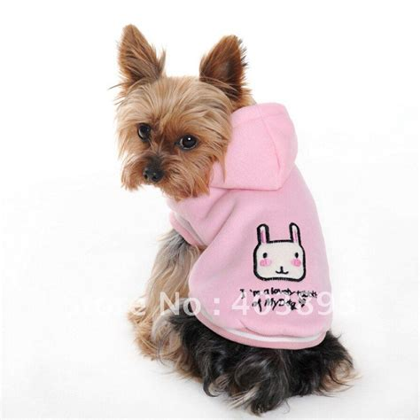 clothes for dogs new pet jacket hooded fashion design with rabbit pattern large small size