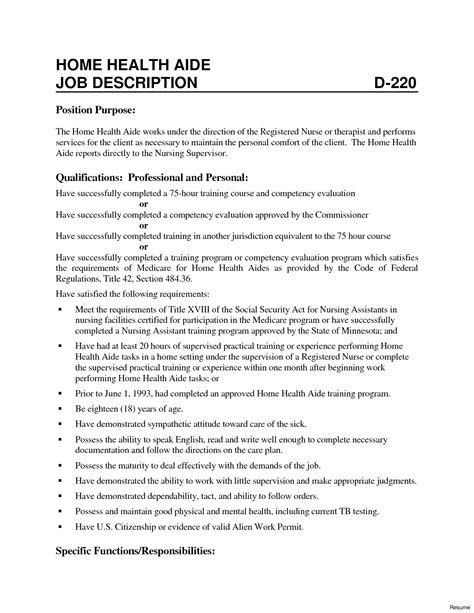 Home Health Aide Description For Resume by Craigslist Home Health Aide Bronx Ftempo
