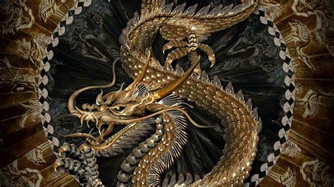 wallpaper gold dragon chinese dragon wallpapers wallpaper cave