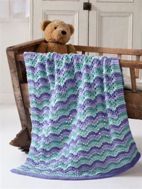 knitted baby comforter lullaby baby blanket in caron one pound downloadable pdf
