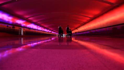 detroit airport light tunnel detroit airport detroit michigan usa july 2014 light