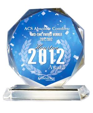 absolute comfort houston acs absolute comfort air conditioning heating hvac awards