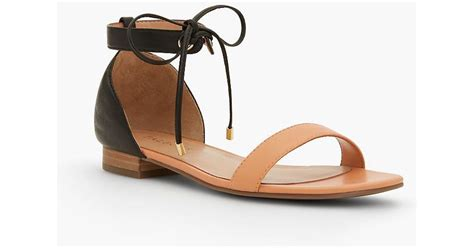 how to soften leather straps on sandals lyst talbots sailor tie sandals soft leather in black