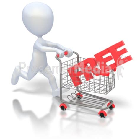 Pushing Free Shopping Cart Holiday Seasonal Events Great Clipart For Presentations Www Presentation Media Free
