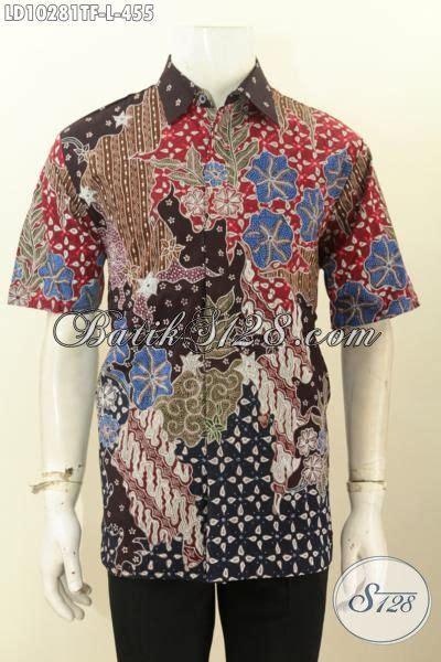 Pakaian Hem Resmi Pria Maroon Xl Kemeja Pria Katun Stretch model baju batik kemeja terbaru pakaian batik istimewa lengan pendek furing pas