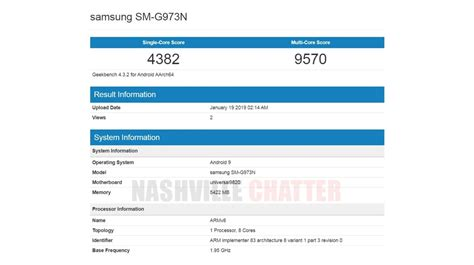 samsung galaxy  leaked specs benchmark scores igyaan network