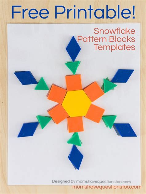 printable snowflake pattern block templates