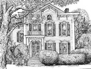 house drawing pen and ink house drawing watercolor house portrait original