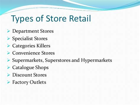 Retail Mba Discount by Retail Format