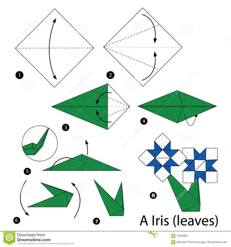 How To Make Paper Toys Step By Step - step by step how to make origami a iris
