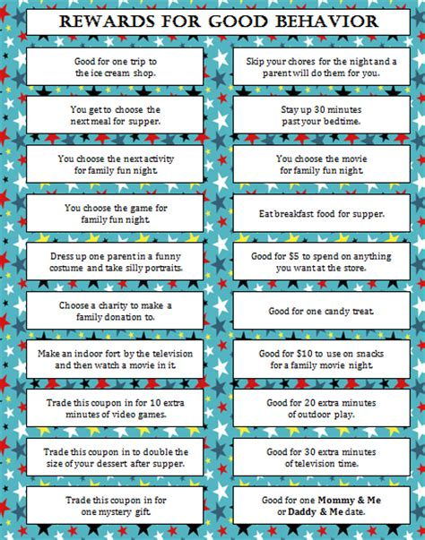 printable reward charts for good behavior rewards for good behavior free printable moms munchkins