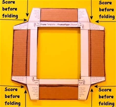 paper picture frame template step 4 frankenpaper in a box illusion