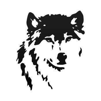 Wolf Racing Aufkleber by Decal Sticker Classic Wolf Track Car Window 7 Years