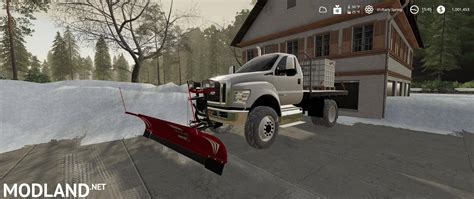 ford  flatbed plow truck