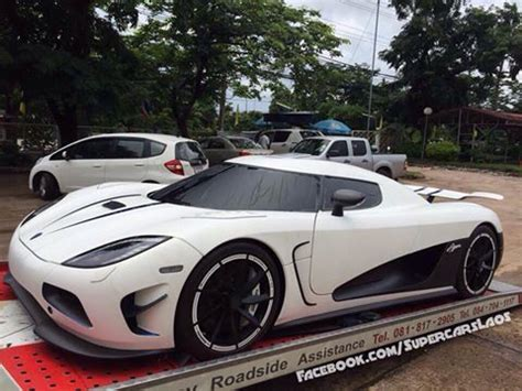 koenigsegg agera r white and blue white koenigsegg agera r delivered in laos gtspirit