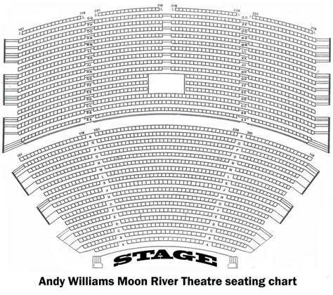 andy williams theatre branson seating chart up concerts branson missouri show tickets