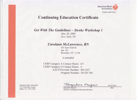 Reference Letter For Continuing Education Certificates Of Continuing Education Courses Carolann Mclawrence S Eportfolio